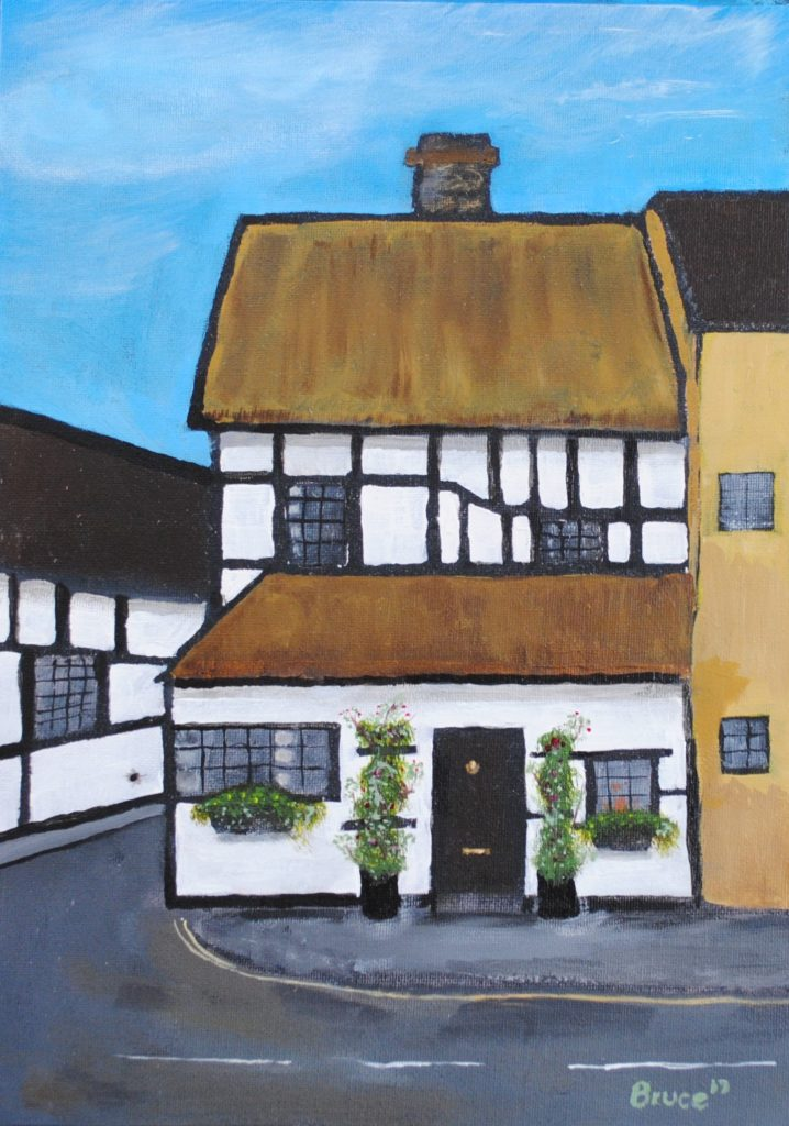 Tudor, Cottage, Alcester, Art By Bruce