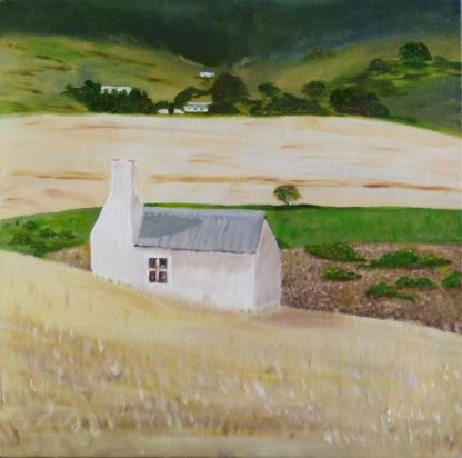 Shepherds Hut, Farmscape, landscape,art by bruce