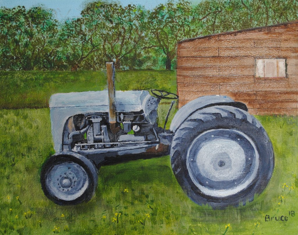 Vaaljapie, tractor, Grey Fergie Art By Bruce