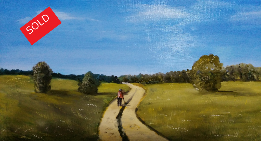 Man Walking - Sold - artbybruce - Oil Painting, Landscape