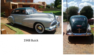Art By Bruce, Acrylic Painting, 1948 Buick, Streetscape