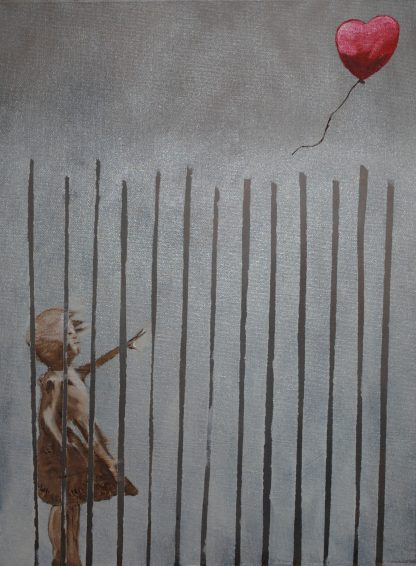 Art By Bruce, Oil Painting, Portrait, Landscape, Girl With Balloon, Banksy Rewound