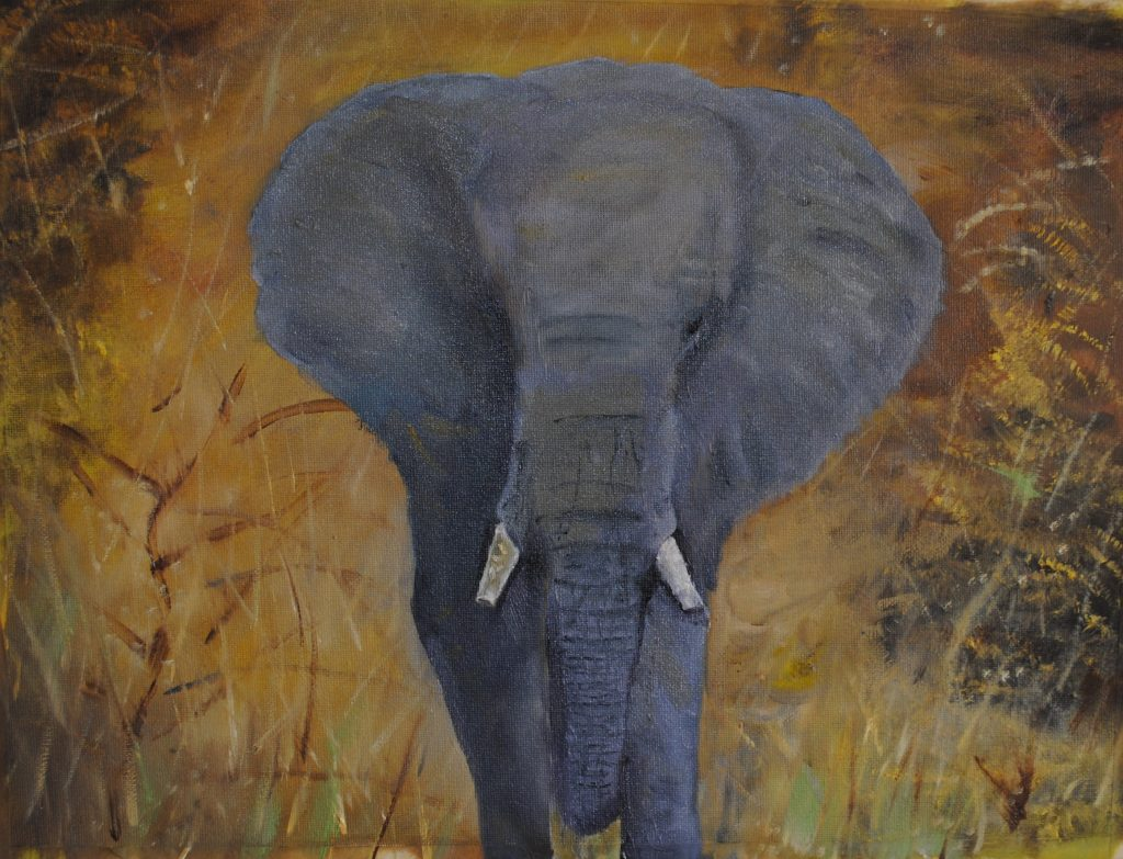 Bull Elephant, Kruger National Park, Art By Bruce