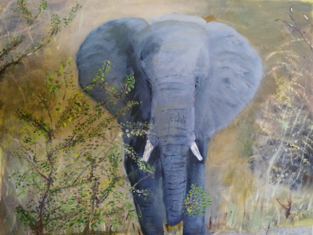 Bull Elephant - Art By Bruce