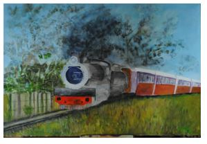 Art By Bruce - Jessica - Steam Train