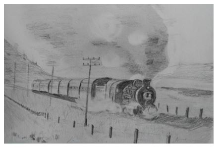 Art By Bruce - Steam Train