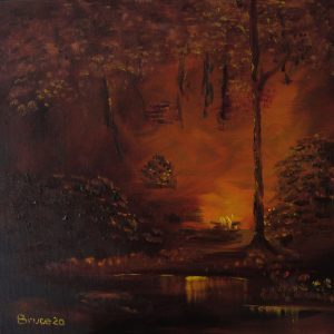 Art By Bruce - Woodland Fire